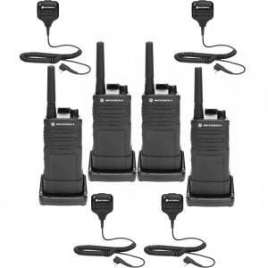 Motorola RM RMU2040 Radio Four Pack + Four Speaker Microphones