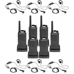 Motorola RM RMU2040 Radio Six Pack + Six Swivel Earpieces