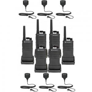 Motorola RM RMU2040 Radio Six Pack + Six Speaker Microphones