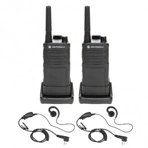 Motorola RM RMU2040 Radio Two Pack + Two Earpieces