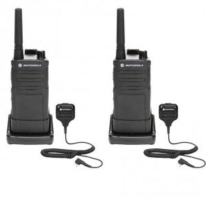 Motorola RM RMM2050 Radio Two Pack + Two Speaker Microphones