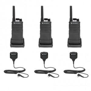 Motorola RM RMU2040 Radio Three Pack + Three Speaker Microphones