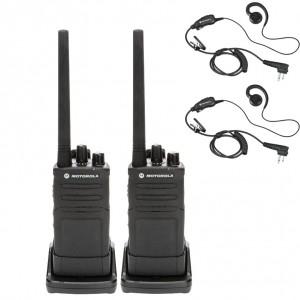 Motorola RM RMV2080 Radio Two Pack + Two Swivel Earpieces