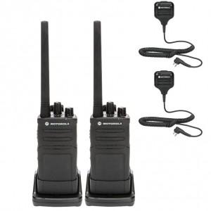 Motorola RM RMV2080 Radio Two Pack + Two Speaker Microphones