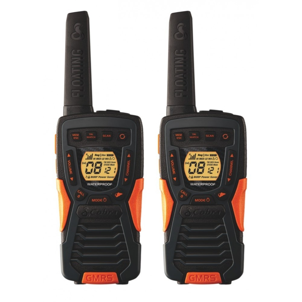 Cobra Acxt1035r Flt Floating Waterproof Frs Two Way Radios