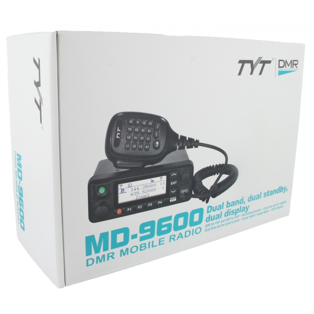 Tyt Md 9600 Dual Band Dmr Digital Mobile Radio Uhf Vhf Microphone Wiring Diagram