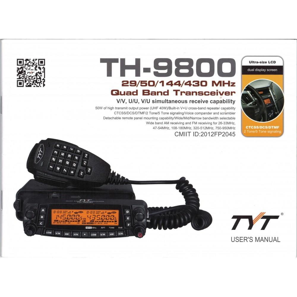 TYT TH-9800 User Manual