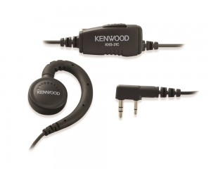 Kenwood KHS-31C C-Ring Earpiece With Inline PTT Switch