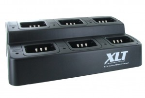 XLT 6-Unit Multi-Charger For Kenwood KNB-45L (TK2400/TK3400 Series)
