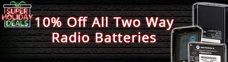 Get 10% off any Two Way Radio Battery