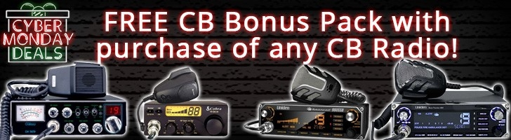 Free CB Bonus Pack with the purchase of any CB radio!