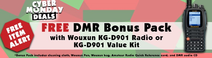Free DMR Bonus Pack with purchase of Wouxun KG-D901 or KG-D901 Value Kit!
