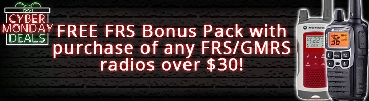 Free FRS Bonus Pack with the purchase of select FRS/GMRS radios!