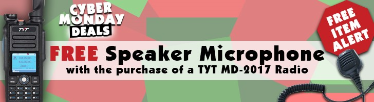 Free TYT MD-2017 Speaker Microphone with purchase of a TYT MD-2017 radio!