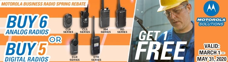 Buy Six Analog Radios, Get a Free Radio! Buy 5 Digital Radios and Get a Free Radio!