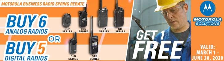 Buy Six Analog Radios, Get a Free Radio! Buy 5 Digital Radios and Get a Free Radio!