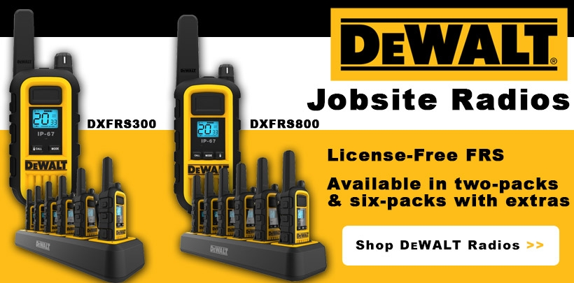 DEWALT Walkie Talkies!
