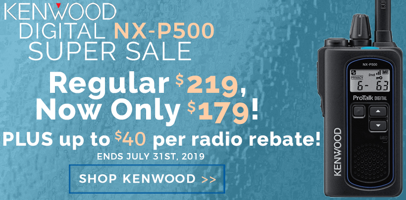 $20-$40 Rebate on Kenwood Digital NX-P500 Radios