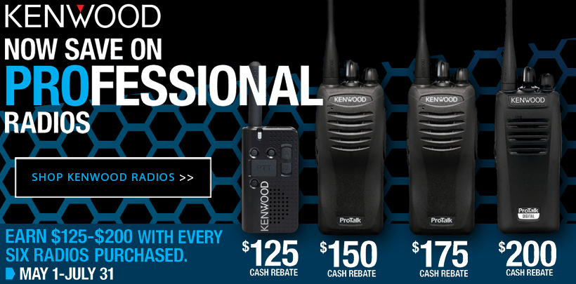 $125-$200 Rebate on Select Kenwood Protalk Business Radios