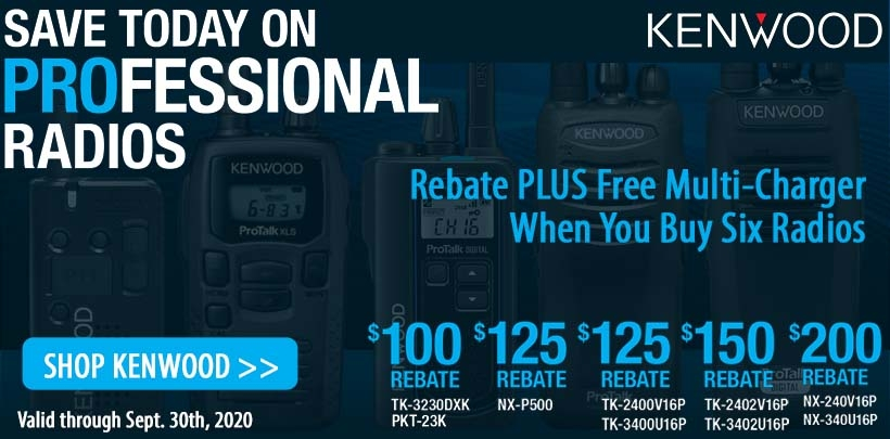 Kenwood $100-$200 Rebate Plus FREE Multi-Charger Offer!