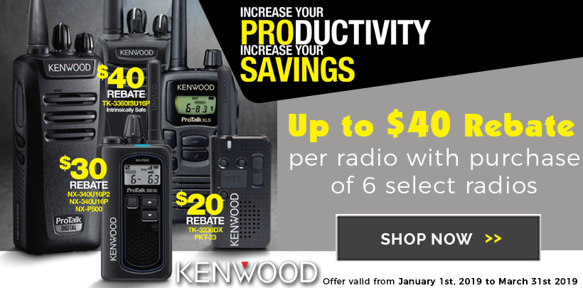 $20-$40 Rebates on Select Kenwood Radios
