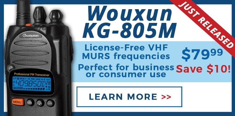 Save $10 on Wouxun KG-805 MURS radios!