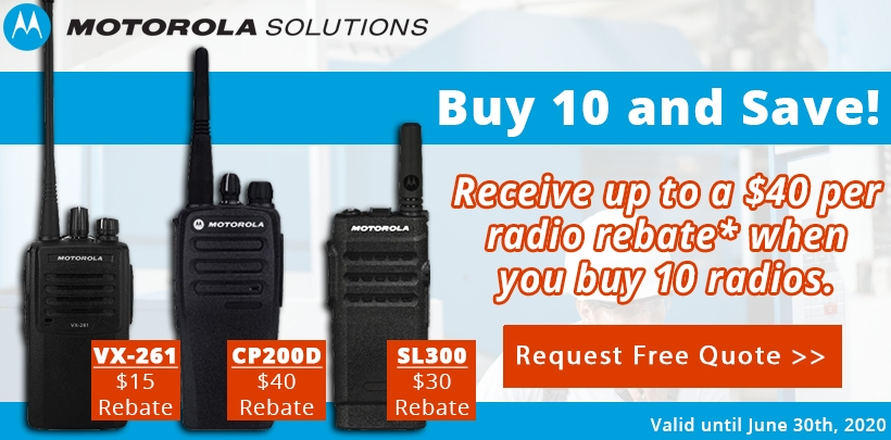 Motorola VX-261/CP200d/SL300 Rebate Offer!