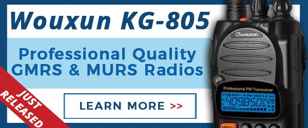 Wouxun KG-805 GMRS and MURS Radios