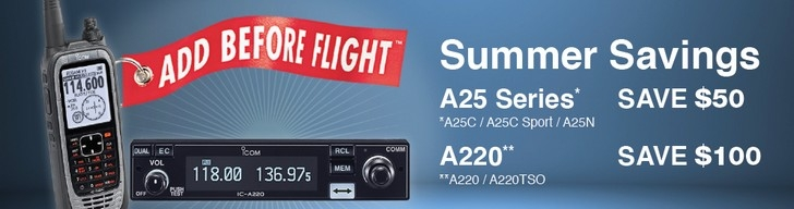 Icom Airband Rebate Offer!