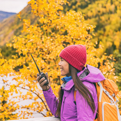Using two way radios on your fall or winter vacation