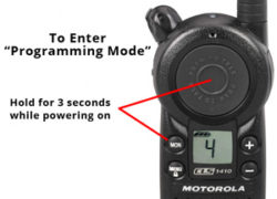 How to Program the Motorola CLS1110 and CLS1410 Radios