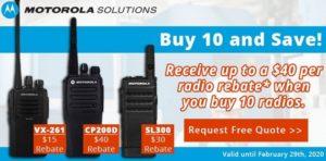 Motorola VX-261/CP200d/SL300 rebate promotion