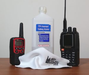 How to clean and disinfect your two way radios