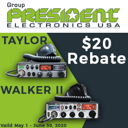 President CB Radio $20 Rebate Offer!