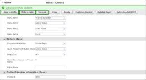 Motorola DLR Series Programming Profile Save As