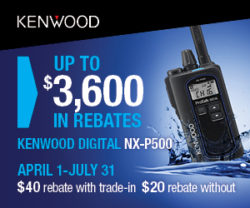 Kenwood Digital NX-P500 on sale for $179 plus a rebate!