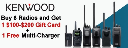 Kenwood $100-$200 Gift Card Plus Free Multi Charger Offer!