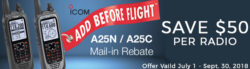 Summer Rebates on Icom Airband Radios!