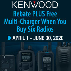 Spring rebates for 2020 on Kenwood ProTalk business radios!