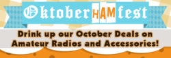 Oktoberhamfest deals on amateur radios!