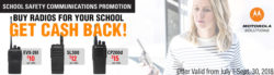 Motorola Radio Rebate Offer for Schools!